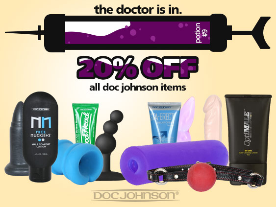 Shop 20% off Doc Johnson sex toys.