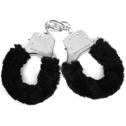 Sex & Mischief: Furry Handcuffs - Black Sex Toy