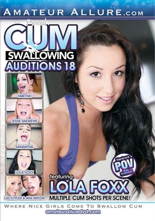 Cum Swallowing Auditions Vol. 18 DVD Image from Amateur Allure.