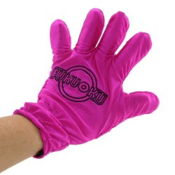Fukuoku: 5 Finger Left Hand Massage Glove - Pink  image.