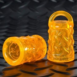 Oxballs Gripper Silicone Nipple Suckers - Orange Sex Toy
