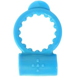 Neon Vibrating Waterproof Cockring - Blue Sex Toy