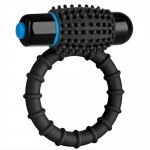 Optimale: Silicone Vibrating C-Ring - Black Sex Toy