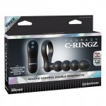 Pipedream Fantasy C-Ringz Remote Control Double Penetrator - Black Sex Toy