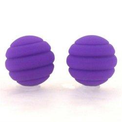 Maia: Twistty Silicone Balls - Purple Sex Toy