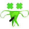 Neon Vibrating Crotchless Panty & Pasties Set - Green Sex Toy