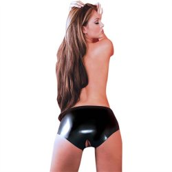 Latex Open Crotch Panties image