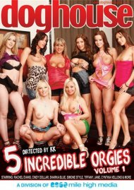Stream 5 Incredible Orgies Vol. 1 HD Porn Video from Dog House Digital.