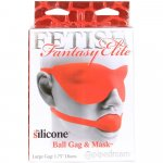 Fetish Fantasy Elite Large Ball Gag And Silicone Mask - Red Sex Toy