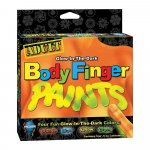 Glow In The Dark Body Finger Paints - Asst. Colors Sex Toy