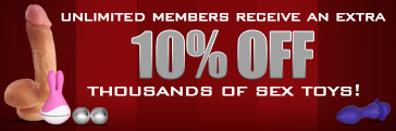 Adult DVD Empire Unlimited Members Receive 10% Off Discounts on All Sex Toys