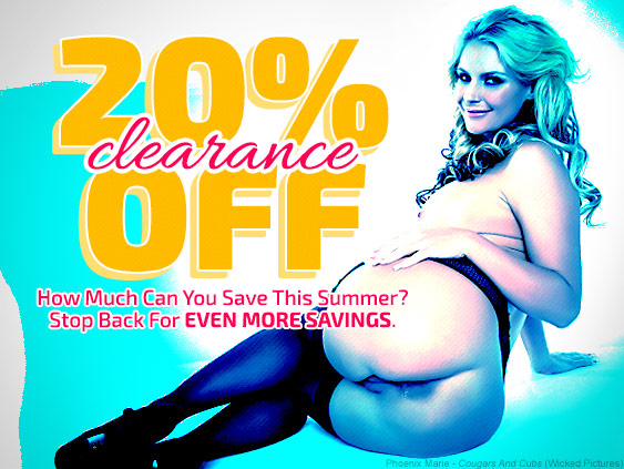 Save 20% on select porn movie titles.