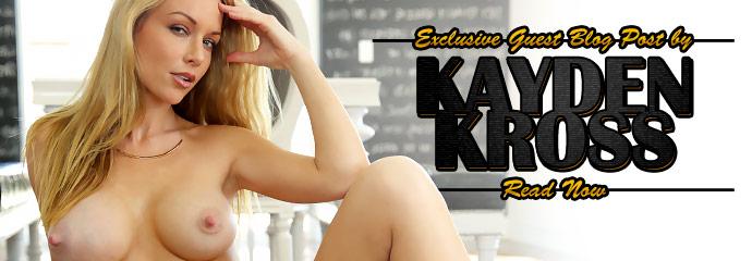 Pornstar Kayden Kross pens a guest blog post about newbie Veronica Vain.