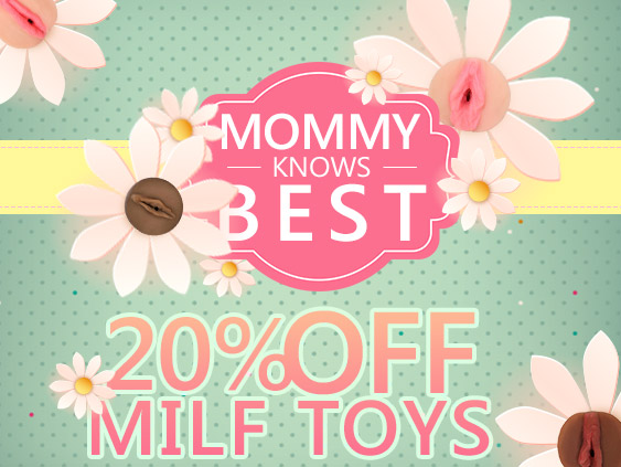 Get a discount on MILF toys.