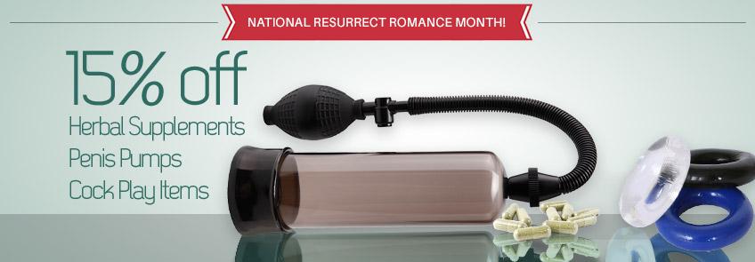 Shop sex toys for Resurrect Romance Month.